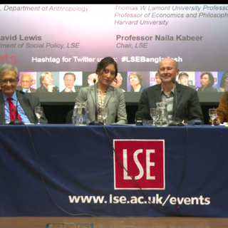 Panel discussion with Amartya Sen, David Lewis, Juli Huang and Naila Kabeer  Unexpected social progress in Bangladesh
